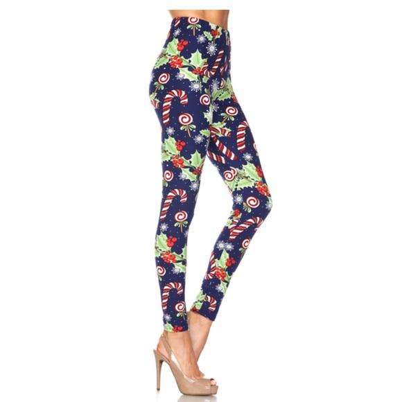 801d9441e04fb3 Pants | Supercute Candy Cane Lollipops Holiday Leggings | Poshmark